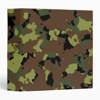 Moss Green Military Camo Binder