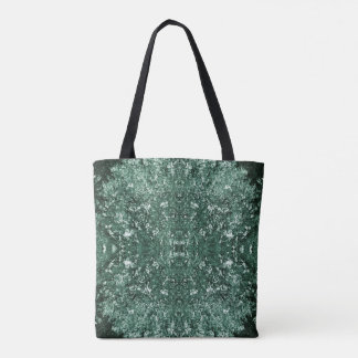 Moss green pattern tote bag
