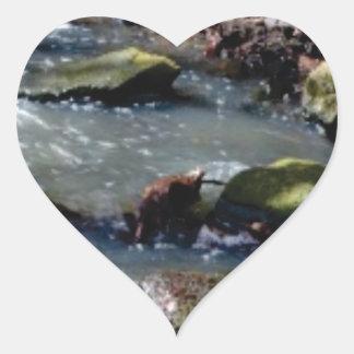 moss in the creek heart sticker