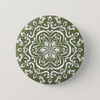 Moss Mandala 2 Inch Round Button