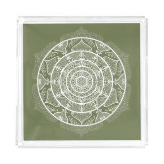 Moss Mandala Acrylic Tray