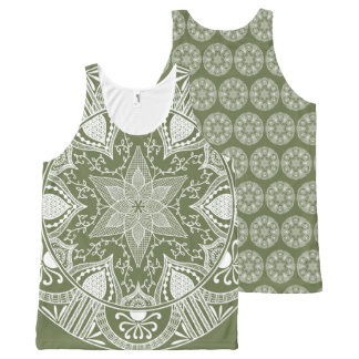 Moss Mandala All-Over-Print Tank Top