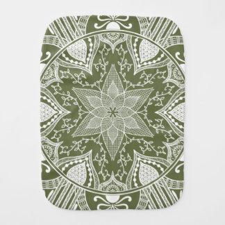 Moss Mandala Burp Cloth