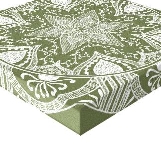Moss Mandala Canvas Print