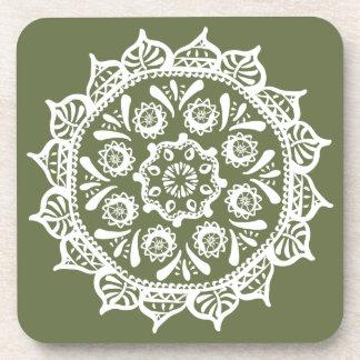 Moss Mandala Coasters