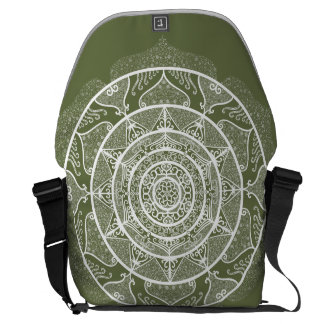 Moss Mandala Courier Bag