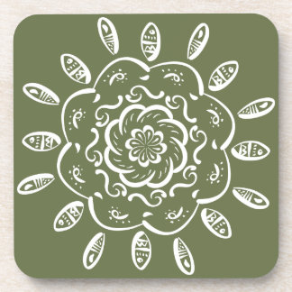 Moss Mandala Drink Coaster