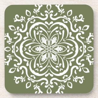 Moss Mandala Drink Coasters