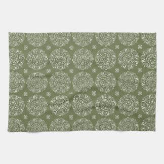 Moss Mandala Hand Towels