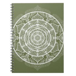 Moss Mandala Notebook