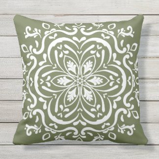 Moss Mandala Outdoor Pillow