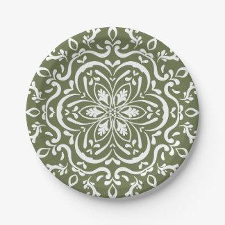 Moss Mandala Paper Plate