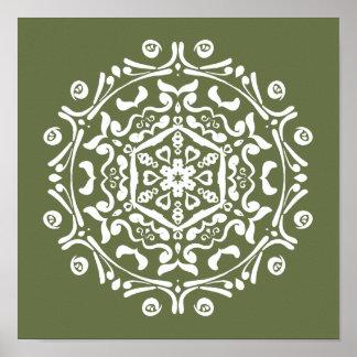 Moss Mandala Poster