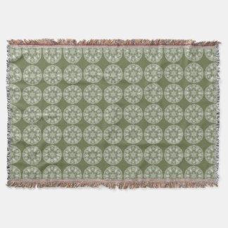 Moss Mandala Throw Blanket