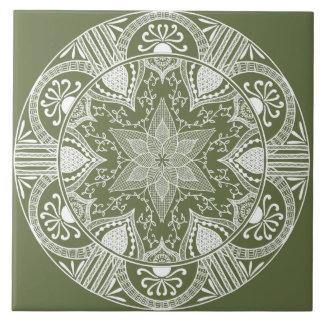 Moss Mandala Tile