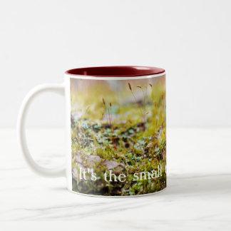 "Moss Mug - ""It's the small things."""