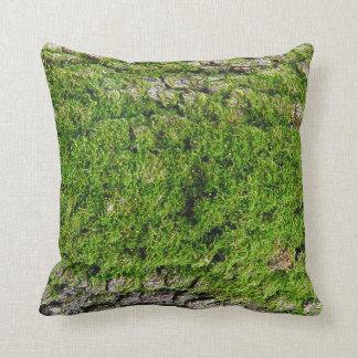 Moss on Dogwood Tree Bark 0291 Throw Pillow