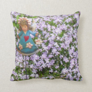 """MOSS YARD ANGEL CUSTOM  DECORATIVE THROW PILLOW"" THROW PILLOW"