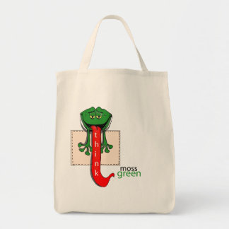 MOSSGREEN FROG GROCERY TOTE