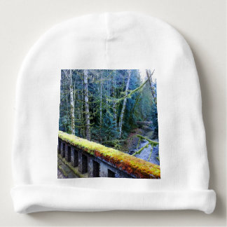 Mossy Bench Nature Trail in Olympic National Park Baby Beanie