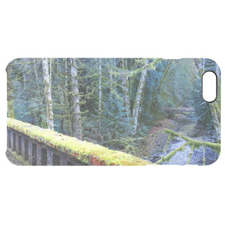 Mossy Bench Nature Trail in Olympic National Park Clear iPhone 6 Plus Case