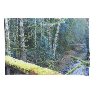 Mossy Bench Nature Trail in Olympic National Park Pillowcase