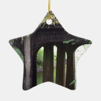 Mossy Bridge over the Sol Duc River Ceramic Star Ornament