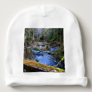 mossy Bridges Near Lake Crescent Lodge Baby Beanie