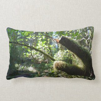 Mossy Green Branch in the Forest Lumbar Pillow