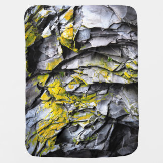 Mossy grey rocks photo baby blanket
