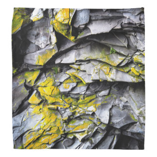 Mossy grey rocks photo bandana