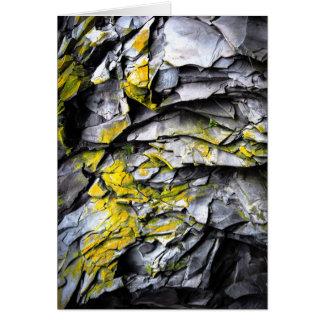 Mossy grey rocks photo card