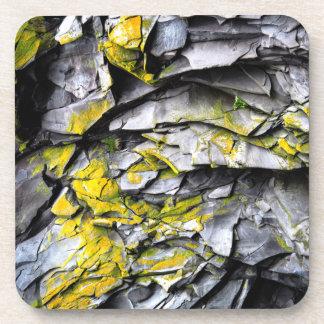 Mossy grey rocks photo coaster
