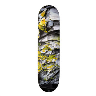 Mossy grey rocks photo custom skateboard