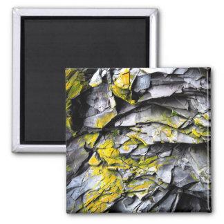 Mossy grey rocks photo magnet