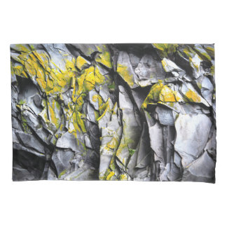 Mossy grey rocks photo pillowcase