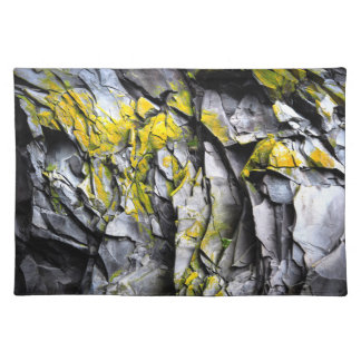 Mossy grey rocks photo placemat