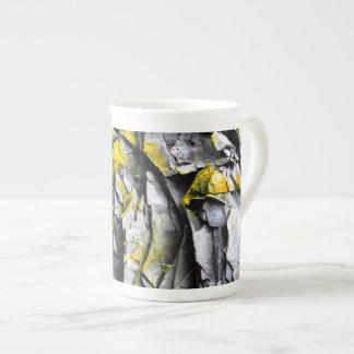 Mossy grey rocks photo tea cup