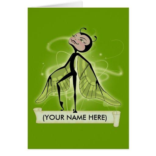 Mossy Haze butterfairy Greeting Card