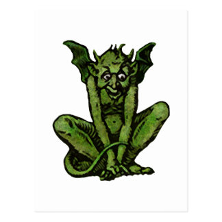 Mossy Little Green Goblin Man Postcard