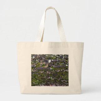 mossy mushroom fun large tote bag