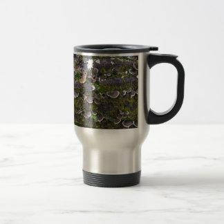 mossy mushroom fun travel mug