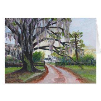 Mossy Oak Plantation Acrylic Painting Card