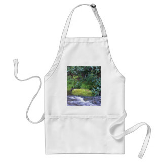 mossy rock on mountain stream standard apron