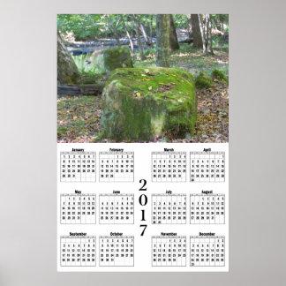 Mossy Rocks - 2017 Calendar Poster