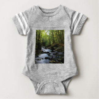 mossy stream in the forest baby bodysuit