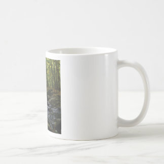 mossy stream in the forest coffee mug