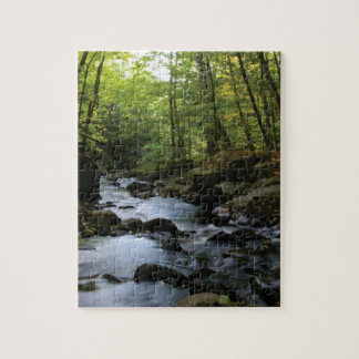 mossy stream in the forest jigsaw puzzle