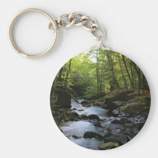 mossy stream in the forest keychain