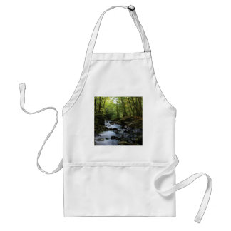 mossy stream in the forest standard apron
